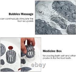 Massager Pied/bain, Avec Massage Shiatsu Roller, Chaleur, Conversion De Fréquence