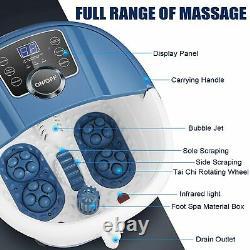 Massageur De Bain De Spa De Pied Avec Des Bulles De Chaleur Vibratoires Rollers Temp Timer 500w