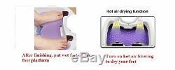 Masseur Bain De Pieds Tout-en-un Avec Massage Par Roulement Motorisé, Chaleur, Vague, O2