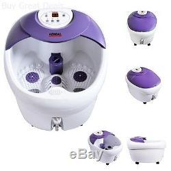 Motoriser Massage Des Pieds Chaleur Bubble Eau Led Display Spa Bain Roulant Soins De Santé