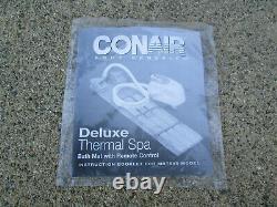 New Conair Body Benefits Deluxe Spa Coussin Thermal Baignoire Mat Avec Télécommande