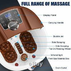 New Foot Spa Bain De Massage Automatique Massage Rollers Chaleur Température Avec Roues