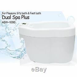 Nouveau Double Spa Plus Asw-1000 Sitz Et Bain De Pieds 2in1 Homedics Hip & Pieds Soins 220v