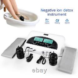 Nouveau Dual Ion Detox Ionic Foot Bath Spa Cleanse Machine Infrared Belt Large LCD