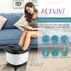 Nouveau Massageur De Bain De Spa De Pied Avec La Chaleur Bubble Vibration Rollers Temp Timer