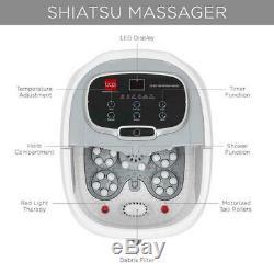 Nouveau Portable Chauffée Spa Avec Bain De Pieds Massage Rollers Red Light Therapy