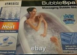 Nouveau Spa Homedics Massant Air Rempli Bubble Bath Mat Avec La Chaleur Accueil Hot Tub Ouvert