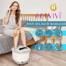 Nouveau-foot Spa Masseur De Bain De Massage Rouleaux De Chaleur Et Bubbles Temp Timer