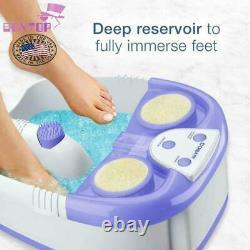 Pédicure De Pied De Chute D'eau Spa Avec Lumières, Bulles, Rouleaux De Massage, Violet