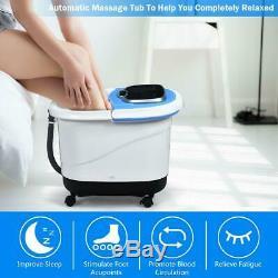 Pédicure Numérique Portable Chauffée Pied Baignoire Spa Motorisé Massage Shiatsu Rouleau