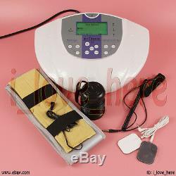 Pied Detox Machine Ion Spa Bain De Pieds Ionique Cellule Cleanse + Far Ceintures Infrarouges Cas