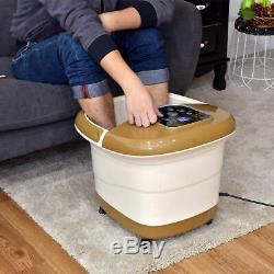 Pied Massager Tem / Time Set Heat Bubble Vibration Baignoire Spa Pieds Fatigués Traitement