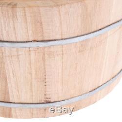 Pied Profond En Bois Massif Bain Barrel Pieds Spa Bucket + Relaxant Des Pieds Tabouret, 2pcs