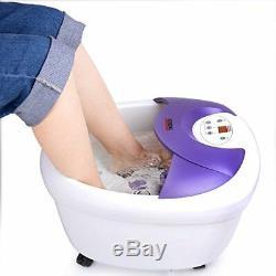Pied Spa Bain Masseur Heat Feet Soaker Massage Bubble Roller Deep Soak Relaxant