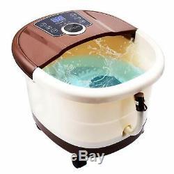 Pied Spa Portable Bain Shiatsu Rouleau Motorisé Détente Affichage Led Massage