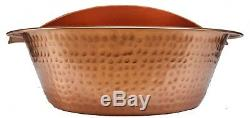 Poli Cuivre Pied Rub Tremper Bain De Lavage Massage Spa Therapy Pédicure Bowl