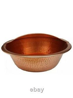 Polonais Copper Foot Rub Soaking Bath Wash Massage Spa Therapy Pedicure Bowl