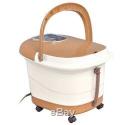 Portable Foot Spa Bain De Massage Bubble Avec 6 Rouleaux Température / Contrôle Du Temps