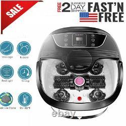 Portable Foot Spa Bain De Massage Bubble Heat Soaker Chauffage Pédicure Tremper Bain