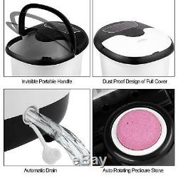 Portable Foot Spa Bain De Massage Bubble Heat Soaker Vibration Pédicure Tremper Bain