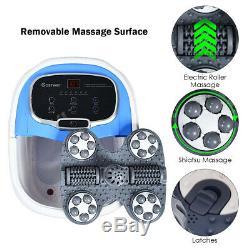 Portable Foot Spa Bain De Massage Motorisé Accueil Pieds Salon Baignoire Avec Douche Bleu