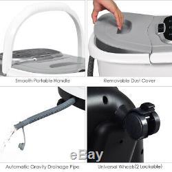 Portable Foot Spa Bain De Massage Motorisé Accueil Pieds Salon Baignoire Avec Douche Gris