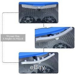 Portable Foot Spa Bain Motorisé De Massage Électrique Pieds Salon Baignoire Avec Douche Bleu