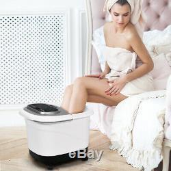 Portable Foot Spa Bain Motorisé Massage Électrique Pieds Salon Baignoire Maison Gris