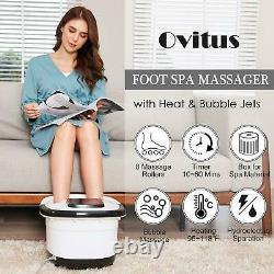 Portable Foot Spa Bath Massager Bubble Heat Soaker Chauffage Pédicure Soak Tub