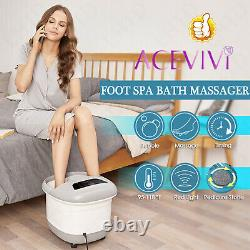 Portable Pied Spa Bain Masseur Bubble Chaleur Soaker Chauffage Pedicure Savon Tub