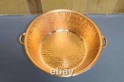 Portable Poli Cuivre Pédicure Bowl Foot Bath Wash Soaking Therapy Spa Beauté