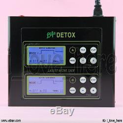 Pro Double Cellule LCD Ionique Cleanse Detox Set Aqua Spa Bain De Pieds 5 Modes 2 Ceintures De Sapin