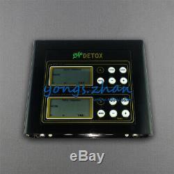 Pro Double Cellule LCD Ionique Cleanse Detox Set Aqua Spa Bain De Pieds 5 Modes 2 Ceintures Sapin