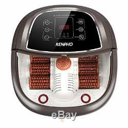Renpho Foot Spa Bain De Massage Avec Chauffage Rapide, Automatique Massage Et