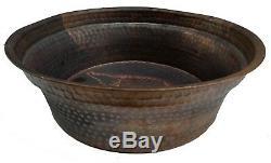 Rustic Pure Copper Foot Rub Wash Bain De Lavage Massage Spa Thérapie Pédicure Bols