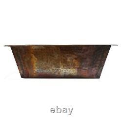 Rustic Rectangle Copper Foot Bath Wash Massage Spa Beauty Salon Pedicure Bowls