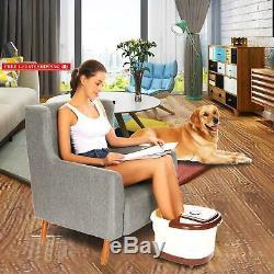 Smibie Foot Spa Bain De Massage, Rouleau Motorisé Automatique De Massage Avec La Chaleur, Fr