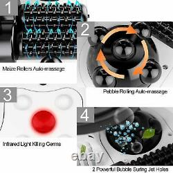 Spa Bain Pieds Avec Chaleur Et Massage 8 Boules De Massage Et Rouleaux Avec Chaleur, Blanc