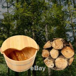 Vintage Wood Foot Spa Bain Bassin Baignoire Seau Avec Couvercle Pour Pied Soaking