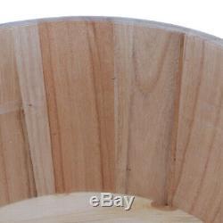 Vintage Wood Foot Spa Bain Bassin Pieds Baignoire Tremper Lavage Seau Barillet Couvercle