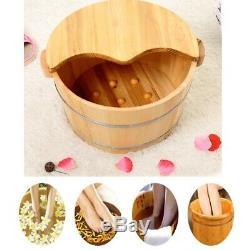 Vintage Wood Pied Bassin Baignoire Seau Pour Bain De Pieds Massage Spa Sauna Tremper