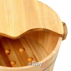 Vintage Wood Pied Bassin Baignoire Seau Pour Bain De Pieds Tremper Les Pieds Massage Spa Durable